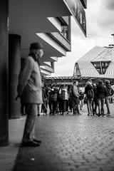 Chapeau (Mathieu Thiebaut | http://www.mathieuthiebaut.com) Tags: street city blackandwhite bw man men art monochrome hat mono noiretblanc strasse sony nb strasbourg explore chapeau biker rue homme vlos lightroom alpha99 a99 outdoore