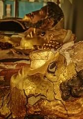 Gilded cartonnage mummy masks Egypt Roman Period (mharrsch) Tags: portrait england london death ancient unitedkingdom egypt plaster burial mummy gilded mummies funerary gilt 1stcenturyce 2ndcenturyce romanperiod petriemuseum mharrsch