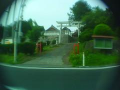 commonplace roadside Shrine (-ICHIRO) Tags: street snap yashica ez f525 toy camera wide lens