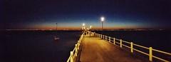 Pier Night River Panorama Night Lights (-ko-ko-) Tags: pier night river panorama nightlights