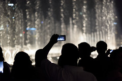 The Dubai Fountain (Wajahat Mahmood) Tags: thedubaifountain travel dubai uae water nikond810 night silhouette googlenik bokeh