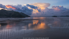 Xiapu Sunrise (Jaykhuang) Tags: ocean china sunrise coast coastline fujian mudflats bamboopoles seaweeds xiapu beiqi jayhuangphotography
