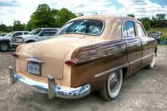 1949 Ford Sedan Rear View (Brian 104) Tags: 1949 ford sedan twotone hdr tonemapped