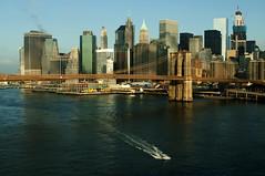 Brooklyn Bridge and East River (Throwingbull) Tags: new york city nyc bridge urban ny skyline brooklyn river east manhatten