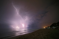 Nightscapes in Cuba (Robyn Hooz) Tags: cuba varadero notte night lightning bolts luce fulmini spiaggia shore beach