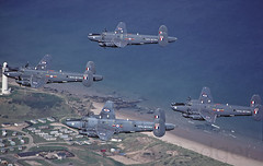 4 Shackletons over Lossiemouth lighthouse. (TF102A) Tags: aviation aircraft raf raflossiemouth shackleton