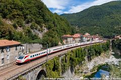 Pendolino deviato (Elmeon) Tags: italy mountains roma train montagne torino italia fb liguria railway zug 23 bahn ti treno av fs trenitalia ferrovia giovi fermata highspeedtrain isoladelcantone altavelocit etr460 35764 elettrotreno frecciabianca