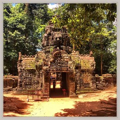 Ta Som, Angkor - Cambogia #lapatataingiacchettaincambogia (PatataInGiacca) Tags: instagramapp square squareformat iphoneography uploaded:by=instagram rise