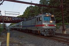 SPAX 2307 @ Woodbourne, PA (Dan A. Davis) Tags: septa aem7 pushpull train locomotive langhorne woodbourne pennsylvania pa