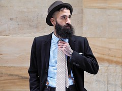 Paul Alternate (Peter Grifoni) Tags: peter grifoni gtpete gtpete63 the human family group street stranger portrait portraiture olympus omd em1 zuiko 45mm f18 melbourne city flinders lane jack london paul style hat beard