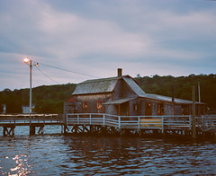 Bridge House (jeremy_a_w) Tags: pentax6x7 portra400 120 90mm28 boothbayharbor maine
