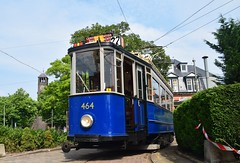 GVB 464 Haarlemmermeerstation Amsterdam (eddespan (Edwin)) Tags: tram strassenbahn tweeasser gvb amsterdam museumtram trammuseum starssenbahnmuseum