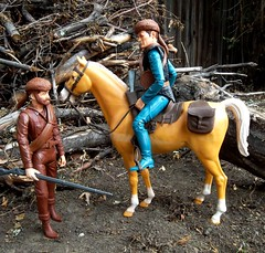 Pioneer Tom Maddox and Jedediah West (atjoe1972) Tags: marx toys johnnywest actionfigure captmaddox jedediahwest pioneer frontier horse oldwest wildwest western boot hat musket oldtimer seventies sixties circlexranch 1960s 1970s botw bestofthewest thunderbolt custom kitbash 16thscale 12inch atjoe1972 cowboy captainmaddox tom maddox