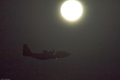 Commando by Moonlight (eaglekepr) Tags: aircraft c130 lockheed mc130 airplane moon sky canoneos7d ef100400mmf4556lisusm