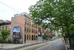 Queen St. East, Toronto (Howard258) Tags: queenstreeteast torontoontario 2016 downtowntoronto queenstreet streetview toronto buildings historic