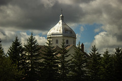 Ukranian Church (Denise Lynn R) Tags: alberta church carvel clouds