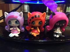 New minis :-) (Unicornsandwolfs) Tags: toralei mattel mystery minis catty noir catrine demew werecat monster high
