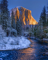 El Capitan (Fereshte Faustini) Tags: yosemite yosemitenationalpark yosemitevalley river snow mountain elcapitan fereshtefaustini diamondclassphotographer