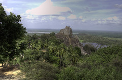 Aradhana Gala (Jan Slob) Tags: srilanka azië asia aradhanagala mihintale mihintaletemple buddhisttemple buddha anuradhapura nikon nikond7000 landscape landschap trees ©allrightsreserved buddhism explore