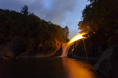 Elk Falls or Fire Falls (i_am_durin) Tags: durinsday canon6 canon1635mmf28 northcarolina northcarolinawaterfalls northcarolinamountains waterfallsofthesoutheast waterfalls elkfalls elkpark spinningwool wool steel steelwool waterfallofthecarolinas