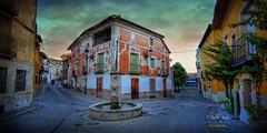 (259/16) Calle de Sacedn (Pablo Arias) Tags: pabloarias espaa spain hdr photomatix nx2 photoshop nubes texturas cielo arquitectura calle sacedn guadalajara comunidadcastillalamancha