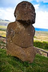 rapa nui 213 17 04  0866 (moments caught in flight) Tags: rapanui easterisland kneeling tukuturi moai ranoraraku quarry