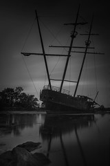Poseidon's Wrath (jrobblee) Tags: shipwreck abandoned niagara jordanharbour sea harbour reflection boat
