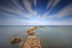 Urbanova (Txeny4) Tags: urbanova alicante atardecer largaexposicion mar marinabaixa manual agua water cielo canon nubes nd nisi lucroit txeny4 texturas