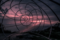 atardece desde el monte Acho (eolo1947) Tags: acantilados caracola cruceirodeohio escultura galicia granito onteacho pontevedra puntadelavela riasbajas