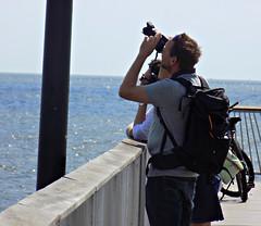Hold Still (Robert S. Photography) Tags: pier sea photographer upward tourists coneyisland brooklyn nyc summer sunshine beach nikon coolpix l340 iso80 september 2016