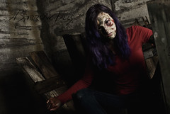 Zombie Hunting (The BenMiller) Tags: zombie halloween haunted abandoned undead makeup photoshop adobe cs4 desolate wisconsin gresham wi fall cinematic hunting model female woman girl nikon d200