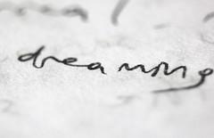 dreaming (mr_gngr) Tags: dream paper writing handwriting book blackwhite english word macro blur beautiful canon 550d t2i turkey trkiye letter