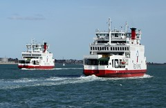 Red Falcon (IndiaEcho Ships) Tags: red sea england water ferry port river boat dock ship harbour craft vessel hampshire solent falcon southampton funnel roro itchen