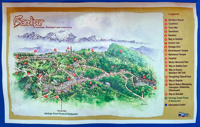 Nepal - Bandipur - Map