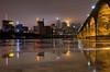 Foggy River M3sb (Greg Riekens) Tags: city bridge usa water minnesota fog skyline night river mississippi lights nikon downtown foggy minneapolis mississippiriver stonearchbridge flickrelite d7000