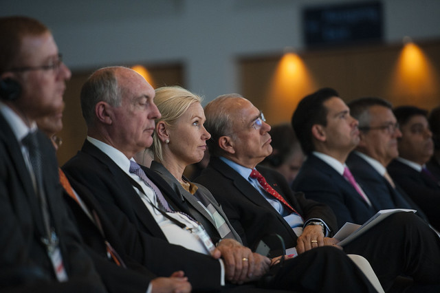 Warren Truss, Anna Johansson and Angel Gurría