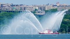 FDNY Three Forty Three Fire Rescue Boat on the Hudson River, New York City (jag9889) Tags: nyc newyorkcity usa ny newyork river boat unitedstates manhattan unitedstatesofamerica vessel hudsonriver fdny firedepartment waterway washingtonheights bravest wahi 2015 firstresponder newyorkcityfiredepartment firedepartmentofthecityofnewyork jag9889 343fireboat 20150527
