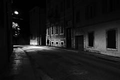 noir city (i k o) Tags: street urban blackandwhite bw silhouette night mood shadows outdoor filmnoir noircity sonyrx100