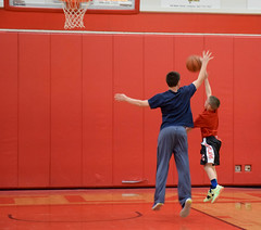 2016.01.30 Cortland, NY - My Cousin's Basketball Game (Katie Wilson Photography Adventures) Tags: road trip family red white ny black game love college sports basketball ball photography photo pics cousins weekend getaway katie january dragons upstate best number baskets mens wilson cousin 24 buckets adventures suny amateur ever foul cortland ref 2016 my
