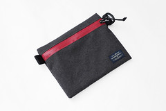 Flat Pouch Ash Red 01 (Imagery Bags) Tags: zipper ykk waterresistant flatpouch drypouch