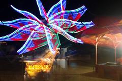 Light Flight (nibrjosa) Tags: county carnival long fair barry rides exposures