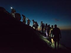 Ascending Stromboli (kuhnmi) Tags: people tourism night walking volcano leute nacht hiking walk group tourist hike torch sicily groupofpeople wandern dunkel tourismus taschenlampe stromboli gruppe lipari aeolianislands ascend dunkelheit wanderung vulkan ascending sizilien aufstieg stirnlampe liparischeinseln olischeinseln
