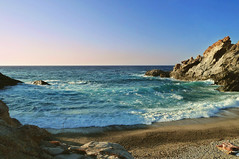 Sometimes we take a day off (egotoagrimi) Tags: sunset beach waves ikaria aegean greece offseason nas dt nudism  nudebathing meltemi  wildswimming
