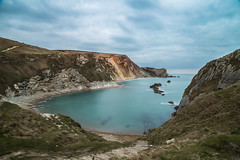 Dusk across the bay (Mrs Bec) Tags: dorset uk landscape dusk sea sky clouds water cliffs bay seaside canon canon6d british england