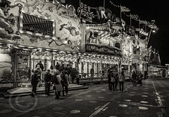 London Nov 2015 (7) 024 - Winter Wonderland in Hyde Park (Mark Schofield @ JB Schofield) Tags: park christmas street city winter england white black london monochrome canon fairground carousel hyde oxford rides nightlife wonderland stalls 5dmk3