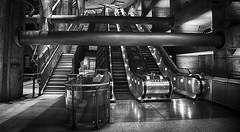 Polished (Nick.Richards) Tags: westminster westminsterstation london londonunderground underground tube architecture escalator silver grey mono monochrome blackandwhite empty quiet nikon nikon1685 nickrichards nikond7100 d7100 lightroom hdr hdrefex polished shiny