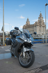 IOM-4 (Diving Pete) Tags: street liverpooldocks honda location motorcycle vehicle liverbuilding viffer rc46 intobeyondphotography vfr800vtecabs