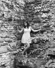 The Look.... (R.A. Killmer) Tags: light blackandwhite woman brick monochrome beauty rock pittsburgh factory natural mattress kaylee