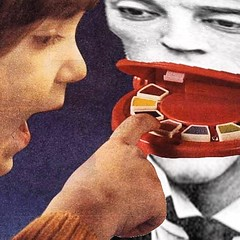 Buster Keaton's musical mouth (Flamenco Sun) Tags: surreal odd strange kidstoy seventies toy xylophone busterkeaton