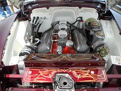 1951 Chevy Fleetline (splattergraphics) Tags: engine chevy carshow pinstripe 1951 fleetline slammed oceancitymd customcar cruisinoceancity